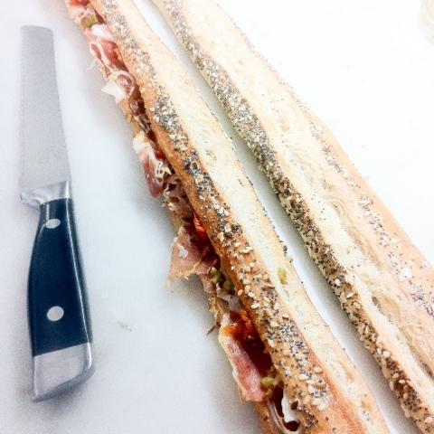 sandwich rompig chez Caratcère de Cochon