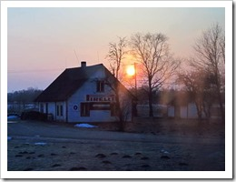 sunrise estonia from the bus photo by sue wellington-web