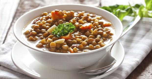 Prato de lentilha