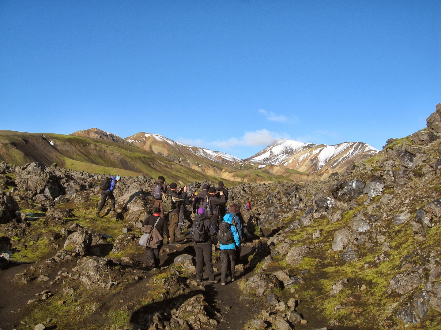 5.9.2013 Day 4 Hike from Landmannalaugar to Hraftinusker and back, Riina