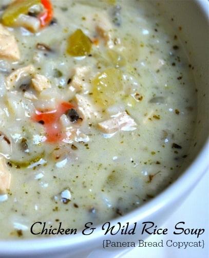 Chicken & Wild Rice Soup {Panera Copycat}