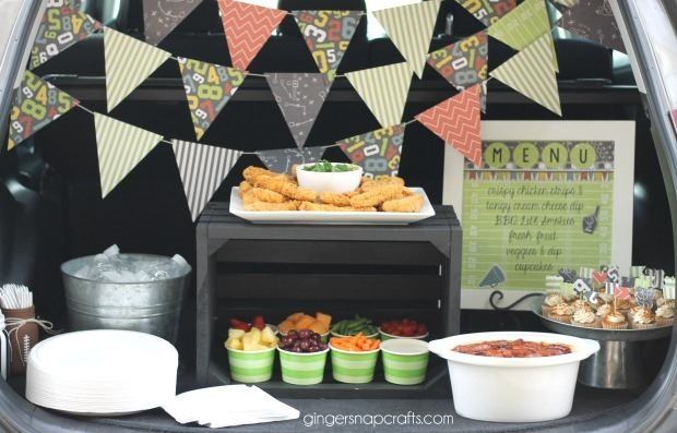tailgating party ideas at GingerSnapCrafts.com