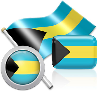 Bahamian flag icons pictures collection