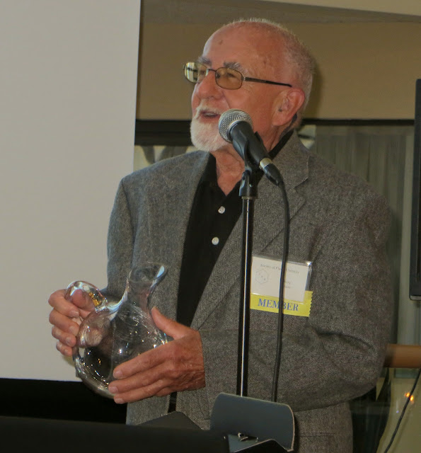 Gerry Kraus, thanking the Society for his 50 year award
