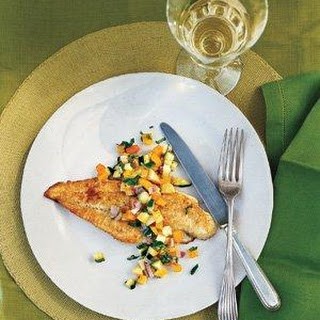 Nick Usner's Pan-Fried Fish With Squash Salsa