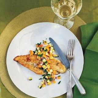 Nick Usner's Pan-Fried Fish With Squash Salsa.