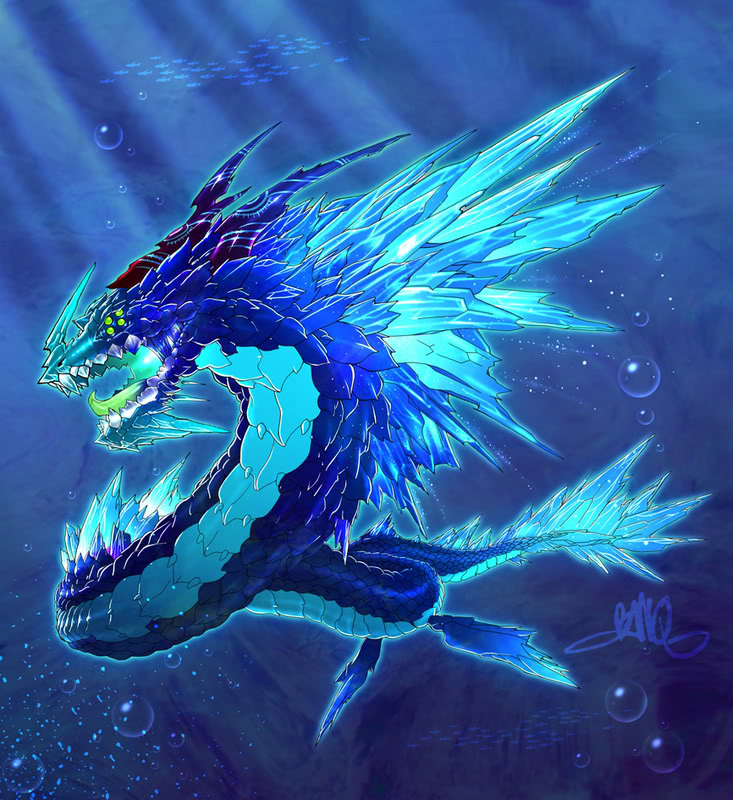 Crystal Dragon By Banq, Dragons