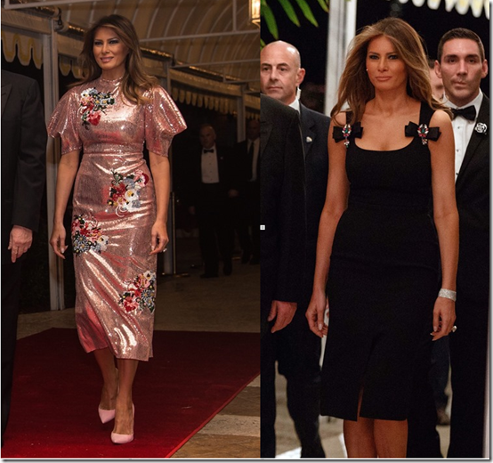 melania new year's eve