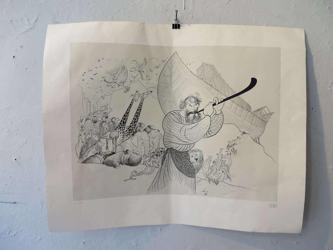 "Al Hirschfeld Signed ""Noah's Ark"" Print"