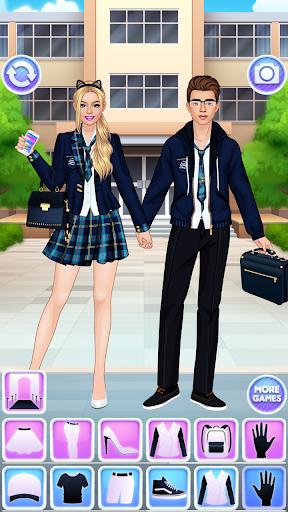 High School Couple: Girl & Boy Makeover 1.3 screenshots hack proof 2