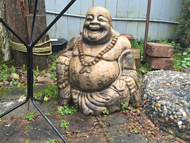 Happy laughing Buddha at Wild Birds Unlimited, Gig Harbor