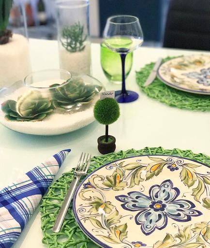 mesa posta verde lardocecasa