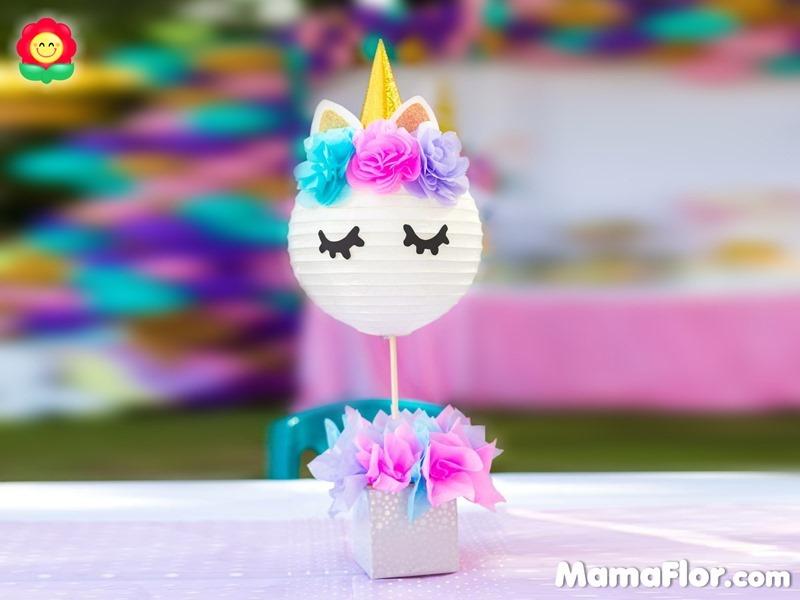 centros de mesa unicornio fiesta decoracion fiesta mamaflor