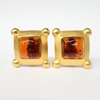 Karl Lagerfeld Square Earrings