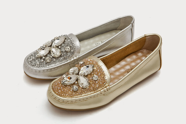 Gold and silver baby flats