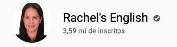 101 canais do YouTube para aprender inglês de graça Rachel's English