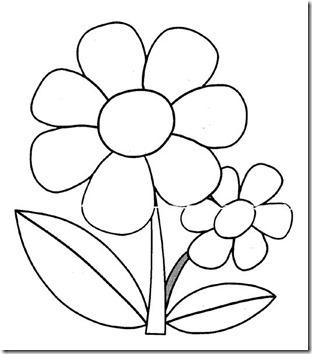 11flores primavera colorear  (31)
