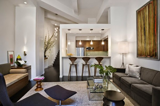 Utuy Design: small apartment living room dining room combo