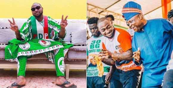 'You are mad' – Davido tells fan who advised him on how to support his uncle's political career
