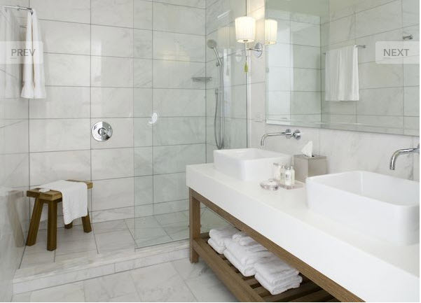 White marble in all its wonderous white glory the for All white bathrooms ideas