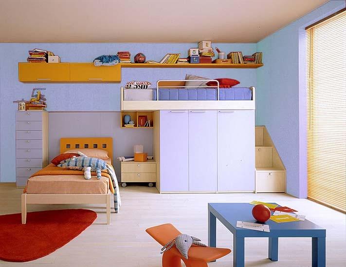Camere Da Letto Moderne Con Armadio A Ponte : Camerette letti a castello e scrivanie camere per