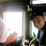17 October 2012 - Dave Riley onboard a Bangladeshi coastguard boat.  Photo credit: RNLI/Alex Evans.