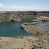 Rest stop at Dry Falls (WAY bigger than Niagara-just no water)