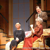 Patricia Hoffman, Richard Michael Roe and Joanne Westervelt in THE ROYAL FAMILY (R) - December 2011.  Property of The Schenectady Civic Players Theater Archive.