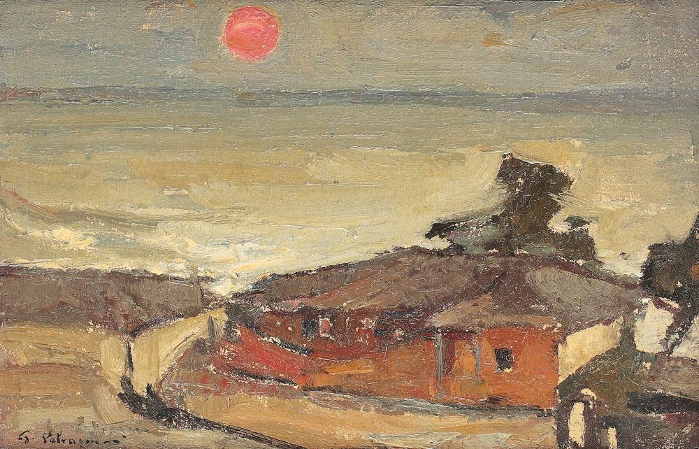 Gheorghe Petrașcu - Apus de soare la Constanța