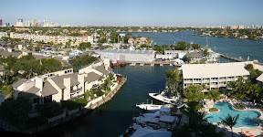 Fort Lauderdale yacht club panorama