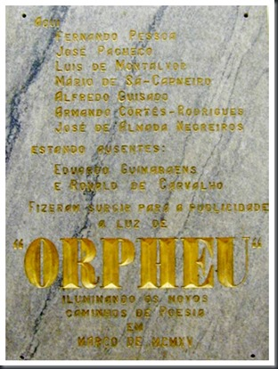 Placa Orpheu