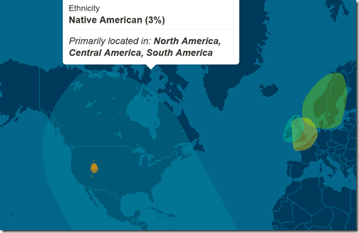 The Ancestry Insider ethnic origin map from AncestryDNA