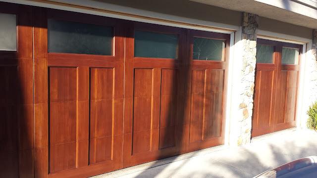 Wood Garage Door Solana Beach