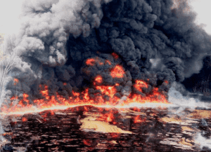 JUST IN: Pain all over the country As Nig. Soldiers raze down community in Bayelsa