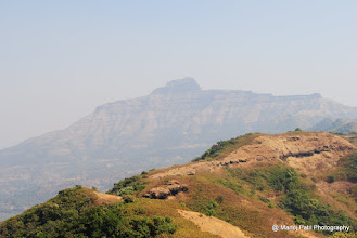 Photo: On the ridge .... See what dist we covered ... Rajgad is on Horizon...