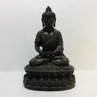 Large Iron Buddha Statue