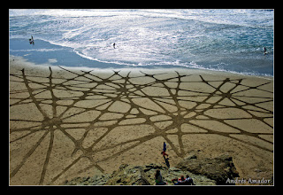 Photo: 'Cracks',Ocean Beach, SF. Done as a workshop design. Beautifully organic. I learned a whole lot on this one.