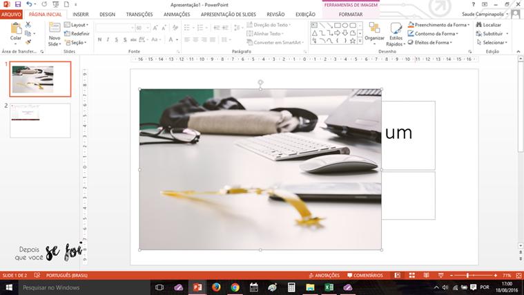 Como editar as imagens do blog no PowerPoint