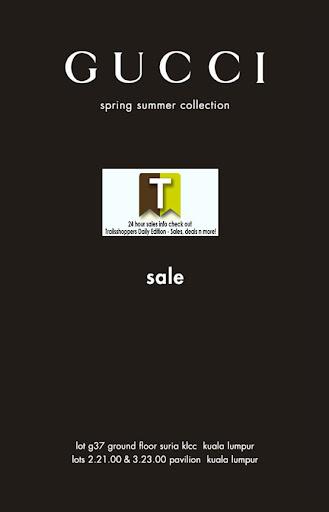 Gucci Spring Summer Sale Till 30 JUN 2012