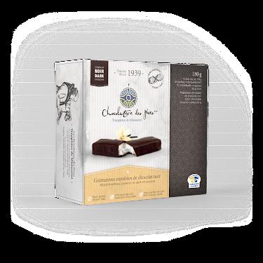 Chocolat Guimauves enrobées de chocolat noir Boîtes