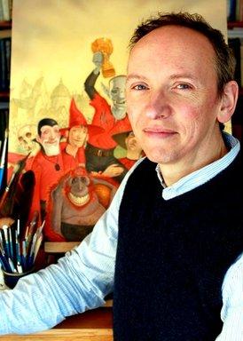Paul in his studio