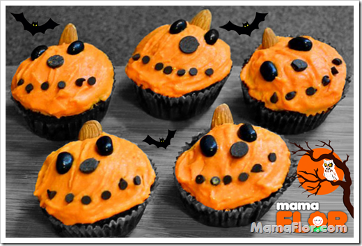 Cupcakes en Forma de Calabaza Halloween