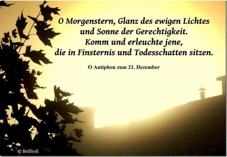 O Antiphon O Morgenstern 21. Dezember