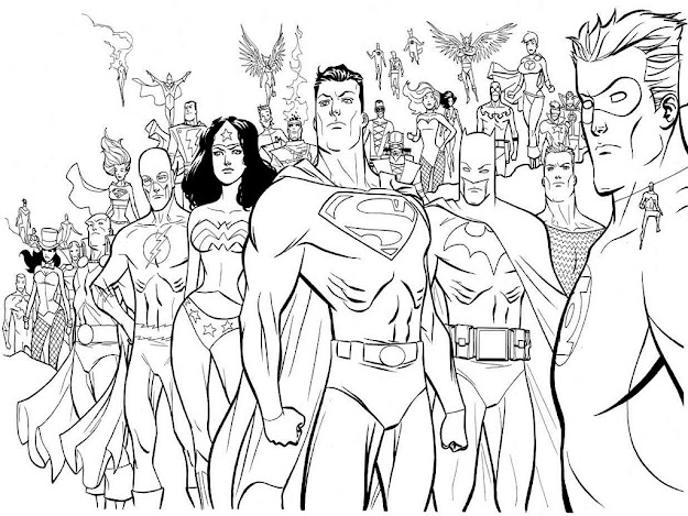 Image Of Superman Coloring Books