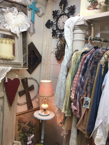 Faux Ship Lap Wall and Unique Clothing Rack
