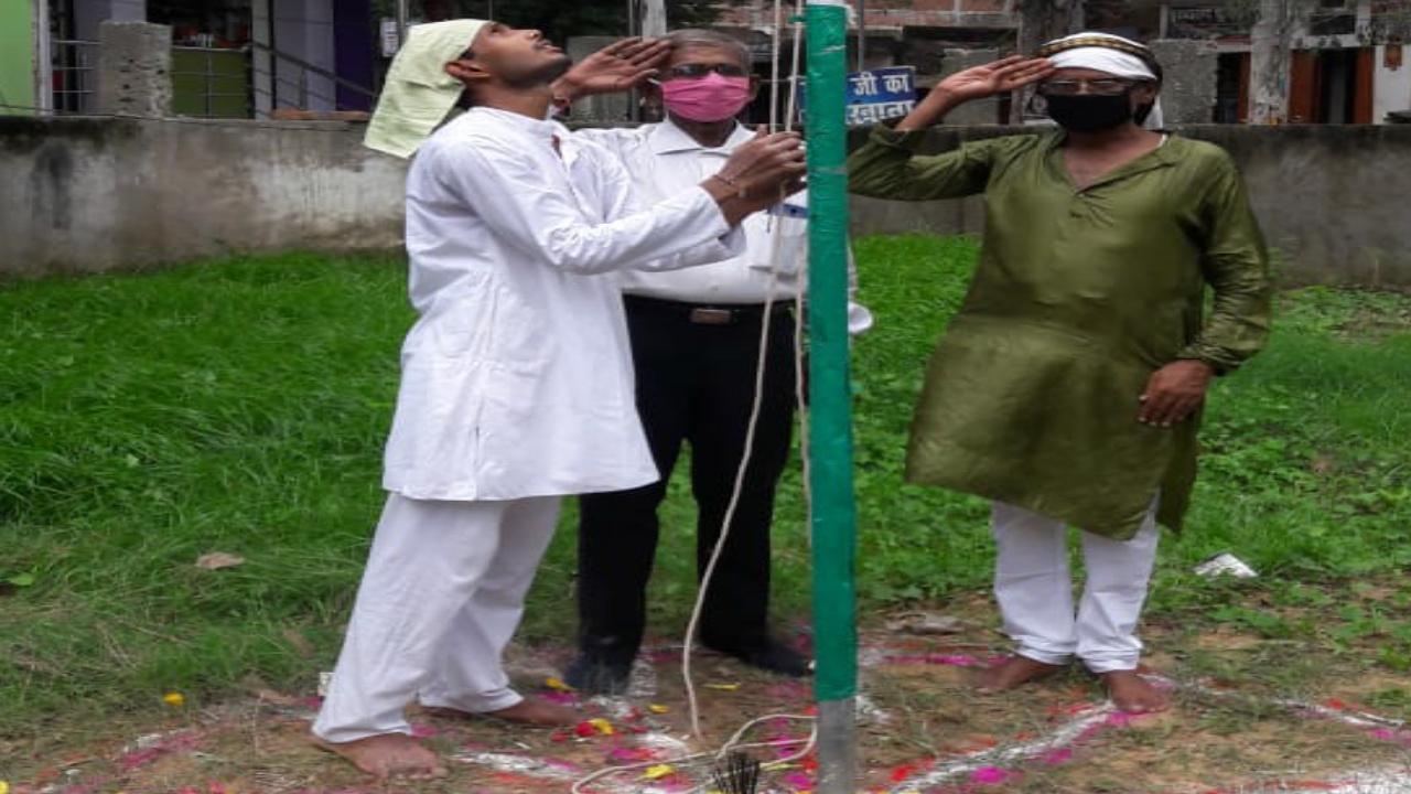 74वें स्वतंत्रता दिवस पर भारत जन्मभूमि जनजागरण मंडल ने फहराया तिरंगा ध्वज