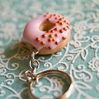 Giant Pink Donut Keychain