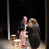 """Paul Dederick and Jennifer Van Iderstyne in """"Words, Words, Words"""" as part of THE IVES HAVE IT - January/February 2012.  Property of The Schenectady Civic Players Theater Archive."""