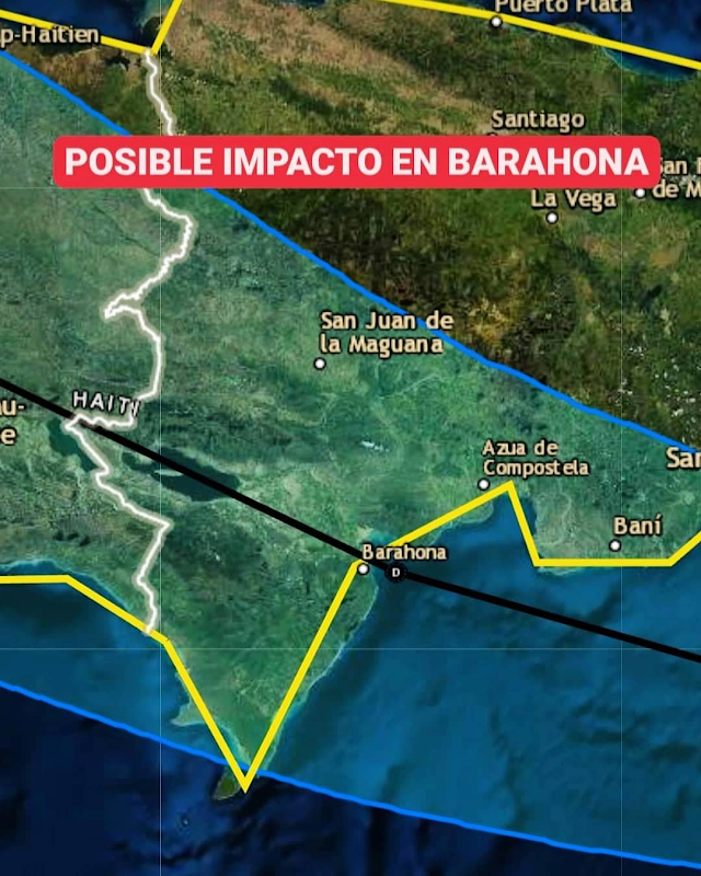 Depresión tropical Grace podría tocar tierra en Barahona el lunes a las 2:00 PM
