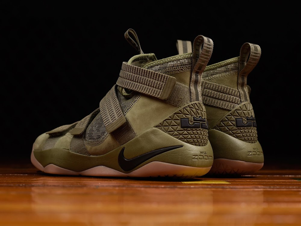 598ba35171c1 Closer Look at Nike LeBron Soldier 11 Olive ...